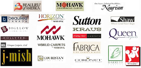 We feature floor covering products from many of the leading flooring manufacturers.